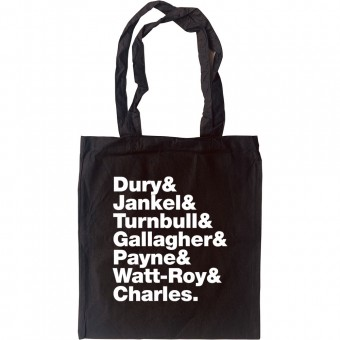 Ian Dury & The Blockheads Line-Up Tote Bag