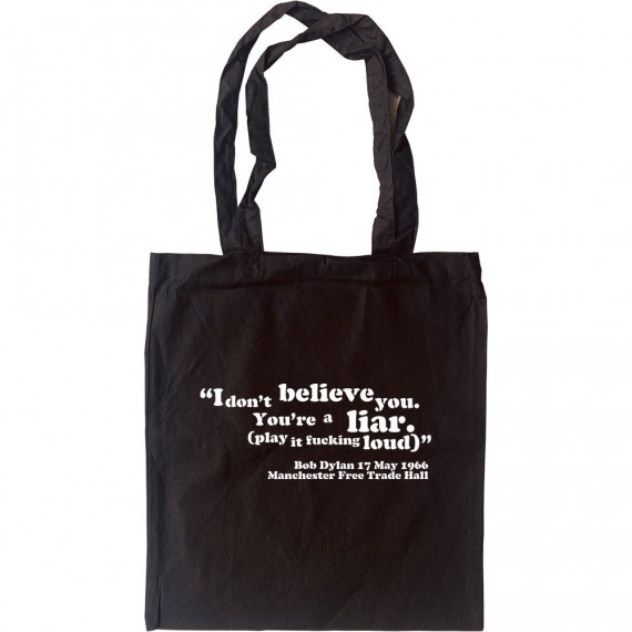 """Bob Dylan """"I Don't Believe You"""" Tote Bag"""