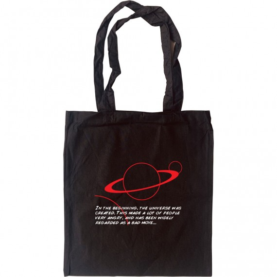 """Hitch-Hikers' Guide """"In The Beginning"""" Tote Bag"""