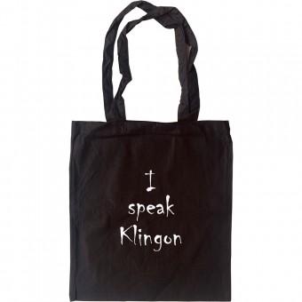 I Speak Klingon Tote Bag