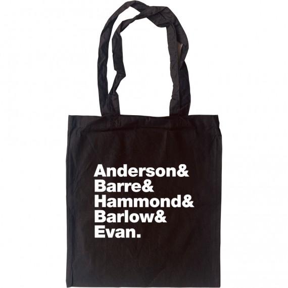Jethro Tull Line-Up Tote Bag