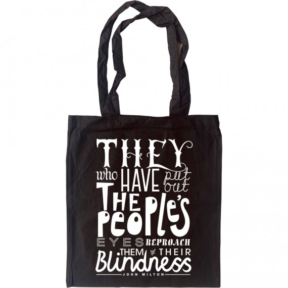 "John Milton ""Blindness"" Quote Tote Bag"