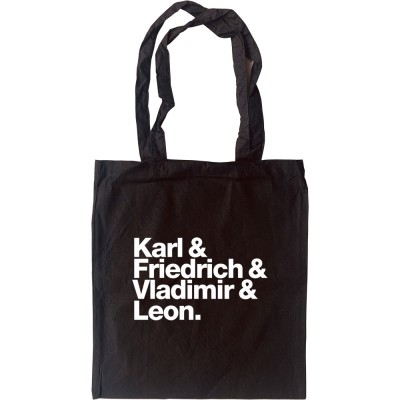 Karl and Friedrich and Vladimir and Leon Tote Bag