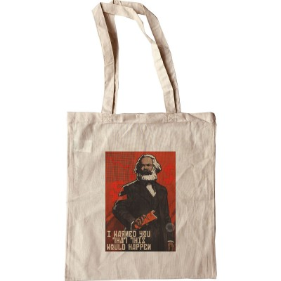 """Karl Marx """"I Warned You This Would Happen"""" Tote Bag"""
