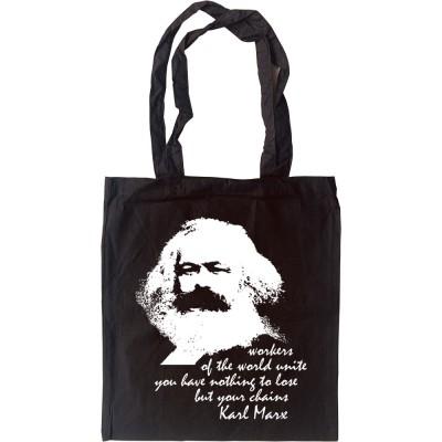 "Karl Marx ""Workers"" Quote Tote Bag"