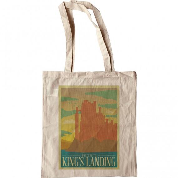King's Landing Travel Poster Tote Bag