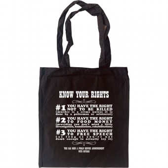 Know Your Rights Tote Bag