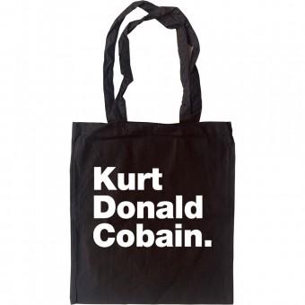 Kurt Donald Cobain Tote Bag