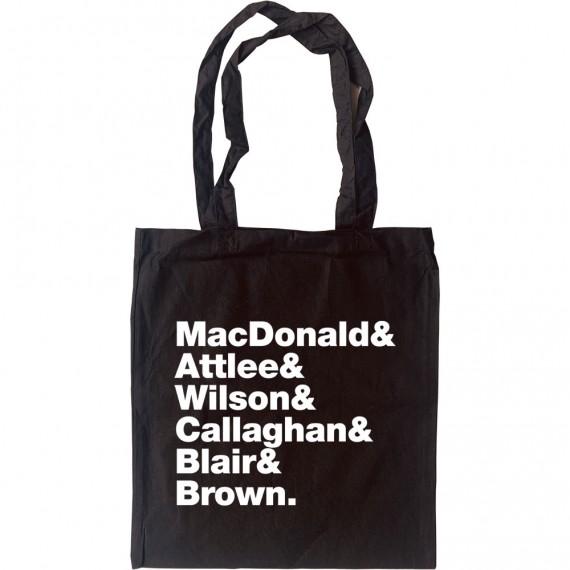Labour Prime Minister Line-Up Tote Bag