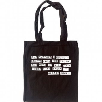 """George Orwell """"Truth"""" Quote Tote Bag"""