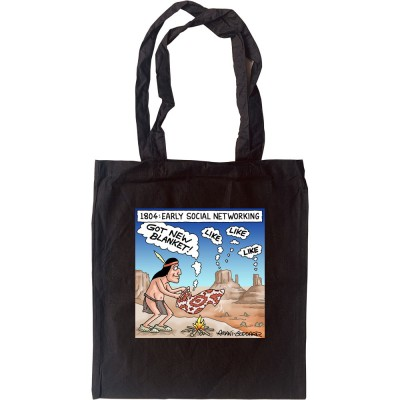 Early Social Networking Tote Bag