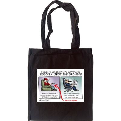 Guide To Conservative Economics: Spot The Sponger Tote Bag