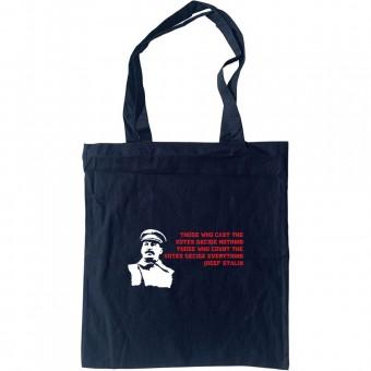 "Josef Stalin ""Cast The Votes"" Quote Tote Bag"
