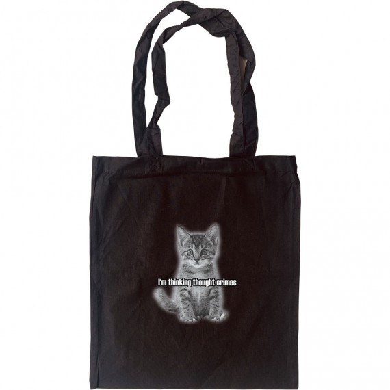 I'm Thinking Thought Crimes: Kitten Tote Bag
