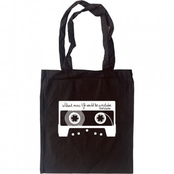 """Friedrich Nietzsche """"Without Music"""" Quote Tote Bag"""