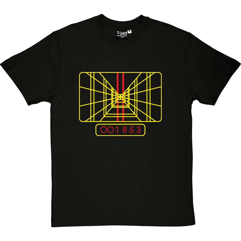 3982ba128 Death Star Targeting Display T-Shirt   RedMolotov